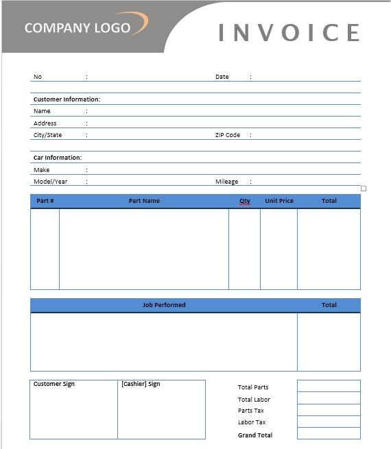 You can also customize the blank. 13 Free Sample Auto Repair Estimate Templates Printable Samples