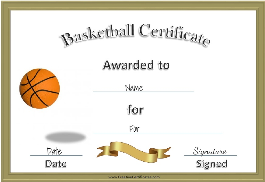13 free sample basketball certificate templates printable samples here is preview of another sample basketball certificate template in pdf format yadclub Images