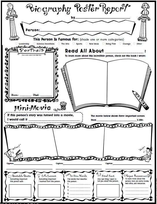 12 Free Sample Biography Report Templates - Printable Samples