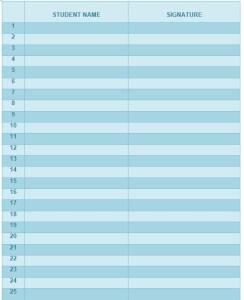 na meeting attendance sheet