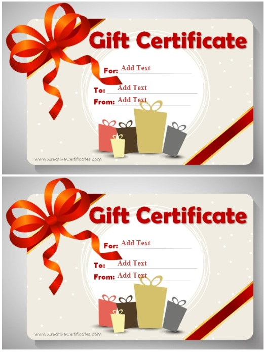 12 free sample business gift certificate templates printable samples
