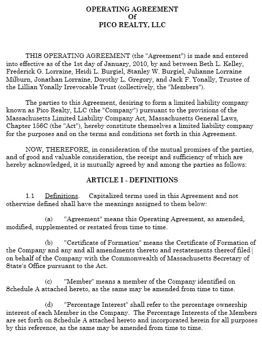 This amended and restated limited liability company. 13 Free Sample Operating Agreement Templates Printable Samples