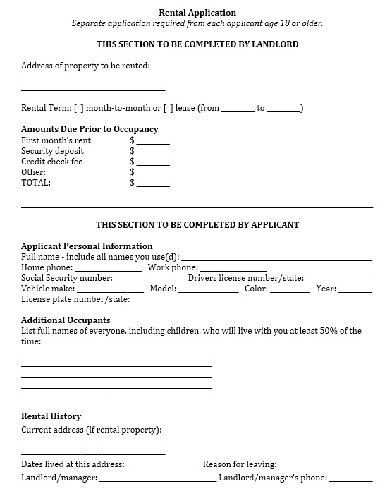 Free Sample Tenant Verification Form  Printable Samples
