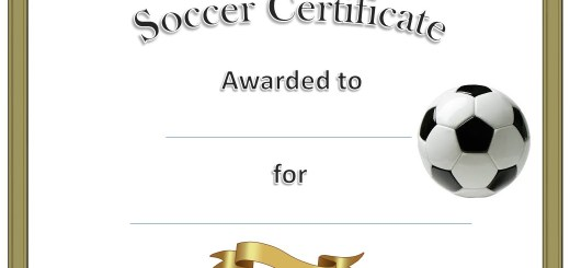soccer certificate templates - 9 free sample volunteer certificate templates printable