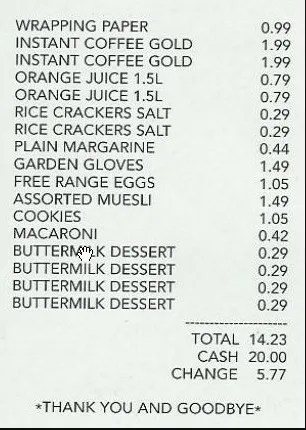 here is preview of another sample grocery payment receipt template created using ms word - Receipt Sample