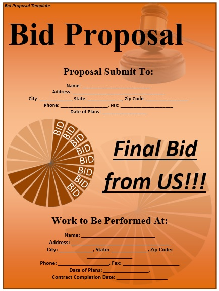 here is preview of this first sample project bid proposal template created using ms word