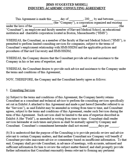 Consultant Agreement. 2 Consultant Agreements Frequently