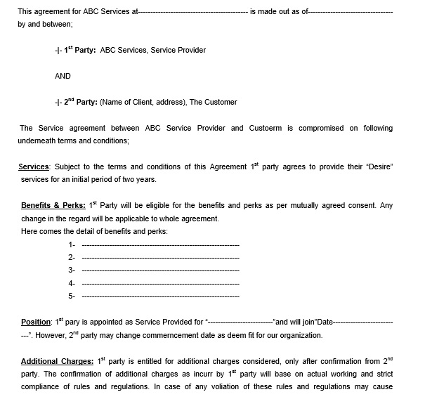 12 Free Sample Legally Binding Agreement Templates Printable Samples