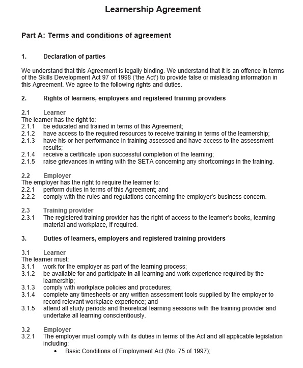 Free Sample Legally Binding Agreement Templates  Printable Samples