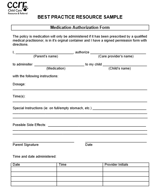 Here Is Preview Of Another Sample Printable Medical Authorization Form  Template Created Using MS Word,