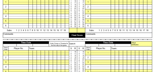 Sample Score Sheets  Printable Samples