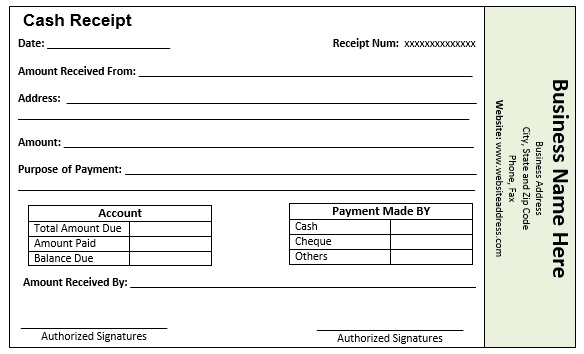 Free Sample Loan Installment Receipt Templates  Printable Samples