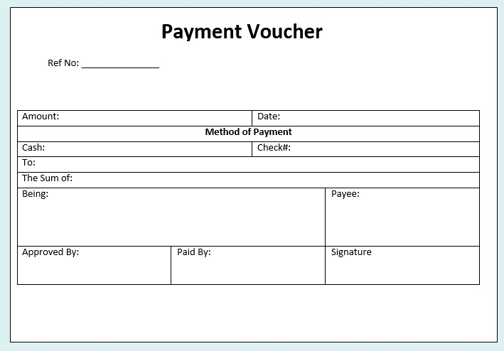 Free Sample Payment Voucher Templates  Printable Samples