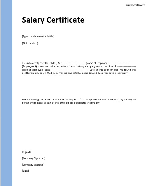 9 free sample income certificate templates printable samples here is preview of another sample income certificate template created using ms word yelopaper
