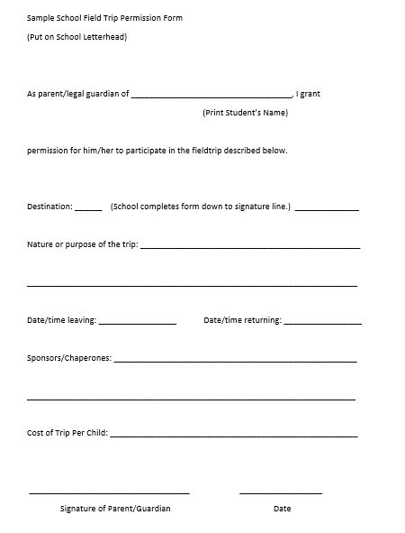 Here Is Preview Of Another Sample Printable Parent Consent Form Template  Created Using MS Word,  Permission Forms Template