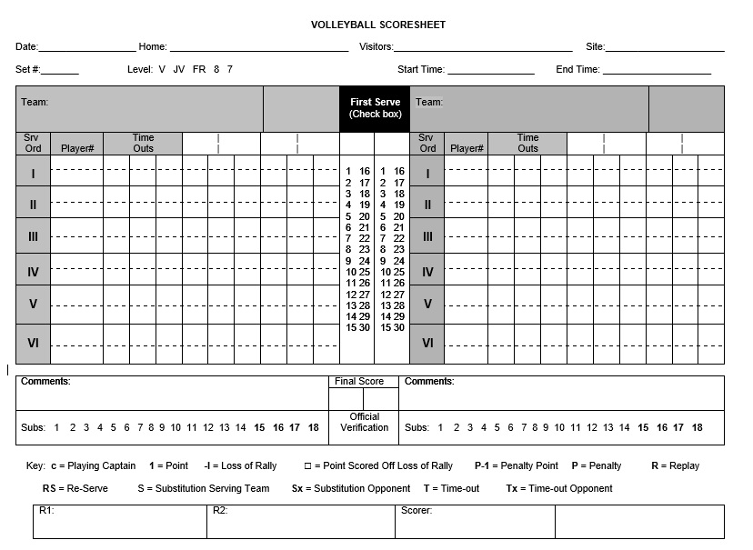 Sample Tennis Score Sheet Template   Fototango.tk