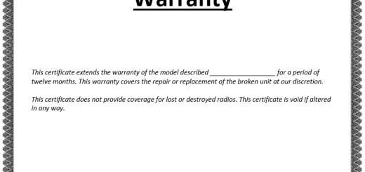 8 free sample warranty certificate templates - Warranty Certificate Template