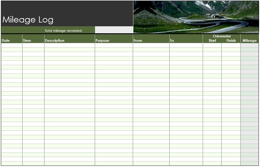 8 Free Sample Mileage Log Templates – Printable Samples