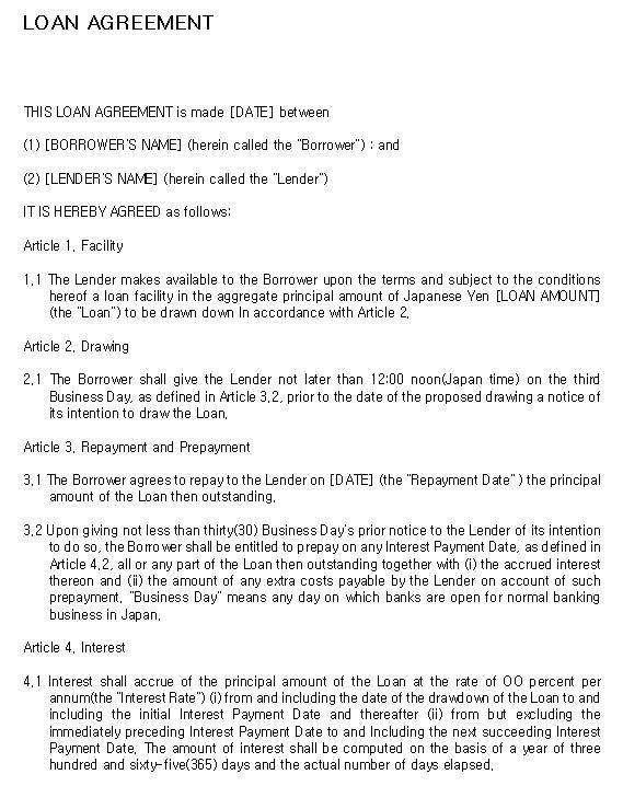 9 Free Sample Loan Agreement Templates - Printable Samples