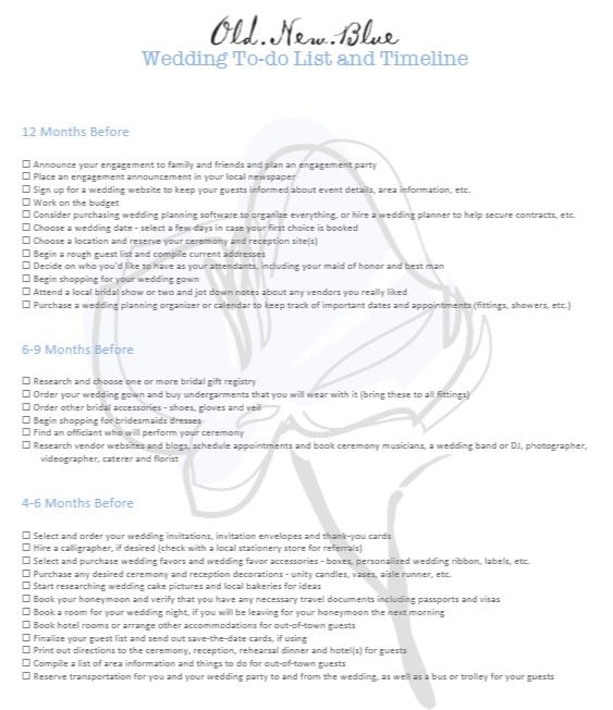 10 Free Sample Wedding To do List Templates – Printable Samples