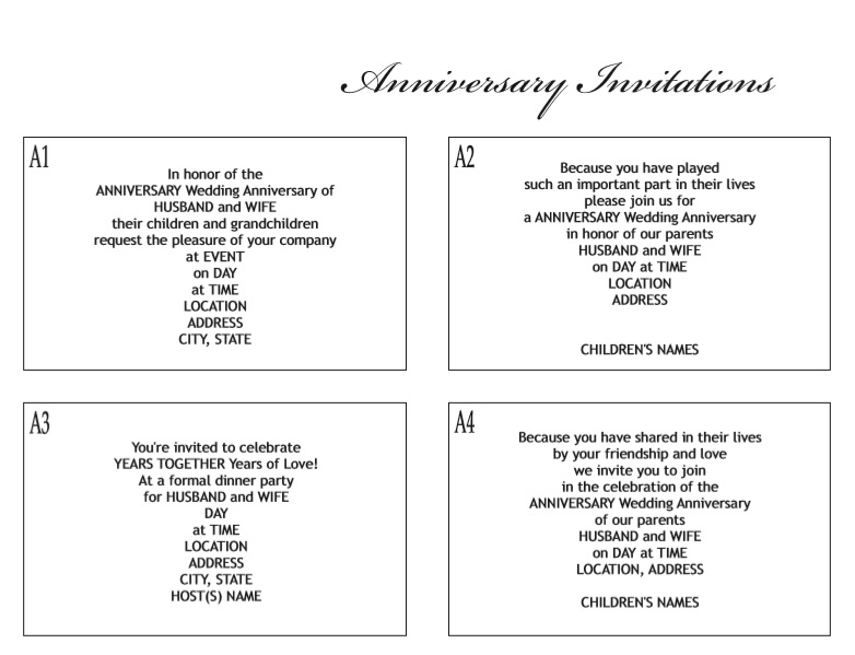 9 free sample anniversary party invitation templates printable samples here is preview of another sample anniversary party invitation template created using ms word stopboris Images