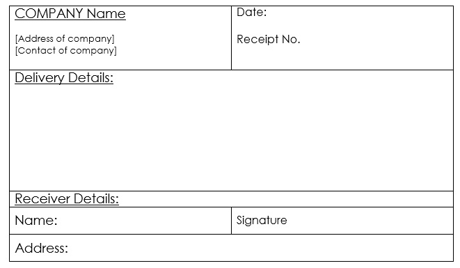 Here Is Preview Of This First Sample Goods Delivery Receipt Template  Created Using MS Word,  Basic Receipt Template