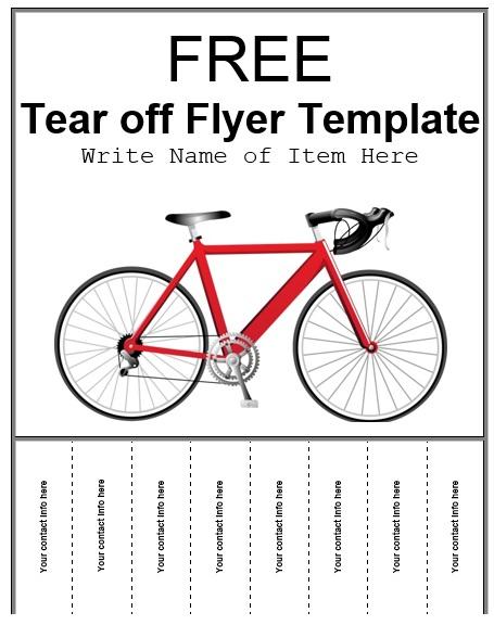 tear off flyer template free