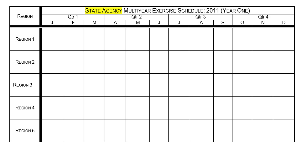 Free Sample Exercise Schedule Templates  Printable Samples
