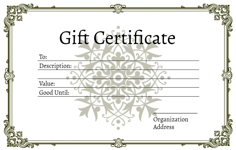 9 Free Sample Tourism Gift Certificate Templates Printable Samples