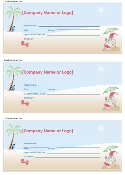 sample gift certificate template