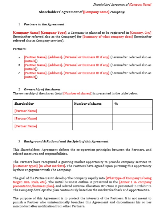 Free Sample Stockholders Redemption Agreement Templates
