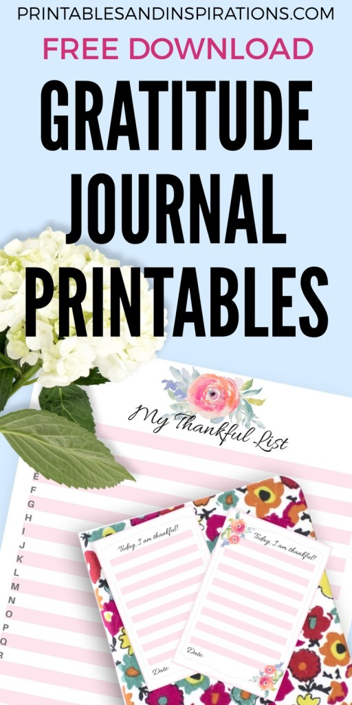 Free Gratitude Journal Printable Notes And Thankful List. Add these to your bulletjournal to inspire thankfulness everyday. #gratitudejournal #gratitude #bulletjournal #printablesandinspirations #thanksgiving