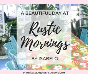 Pretty interior design at Rustic Mornings Restaurant in Manila