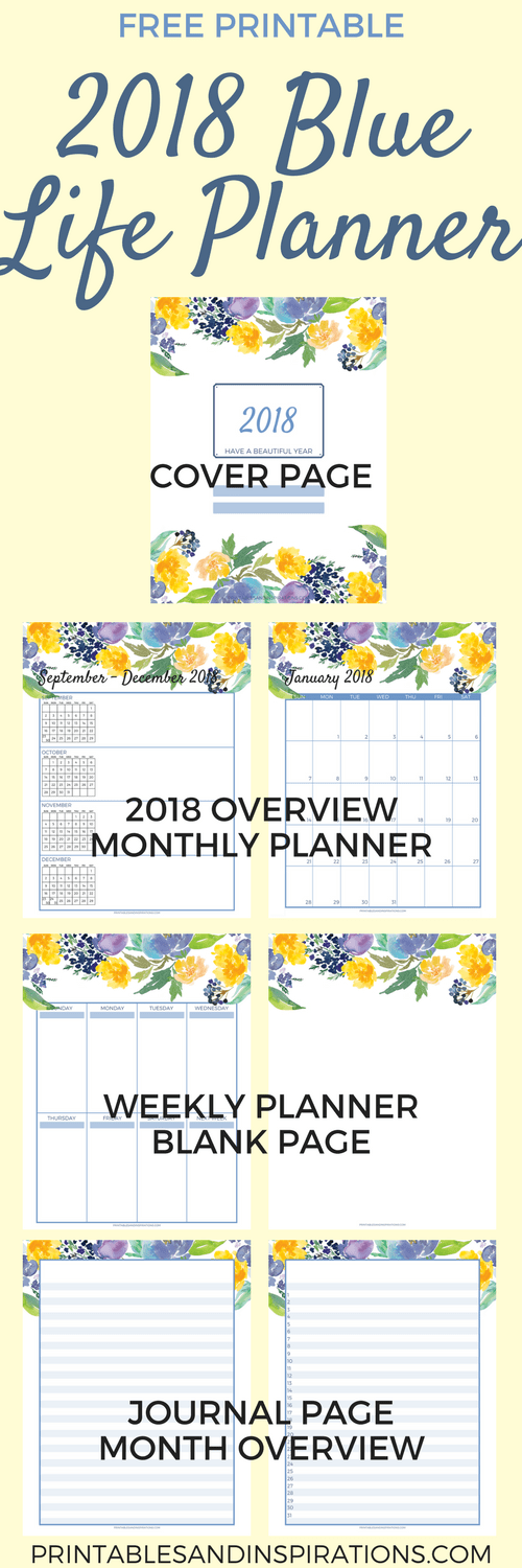 Free 2018 planner for your best year ever printables for Future planner online