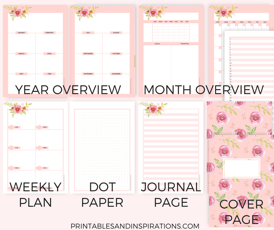 Free Printable Pink Planner Pages For Any Year Printables And