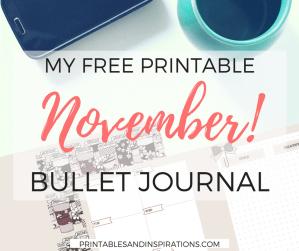 November bullet journal   free printable planner   bujo   bullet journal layout   bullet journal weekly spread   planner printables