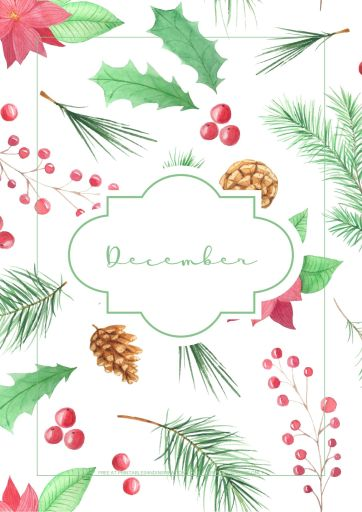 December Christmas bullet journal printable - christmas trees, evergreen, free printable planner for December #freeprintable #printablesandinspirations #Christmas #bulletjournal #planneraddict #bujoideas
