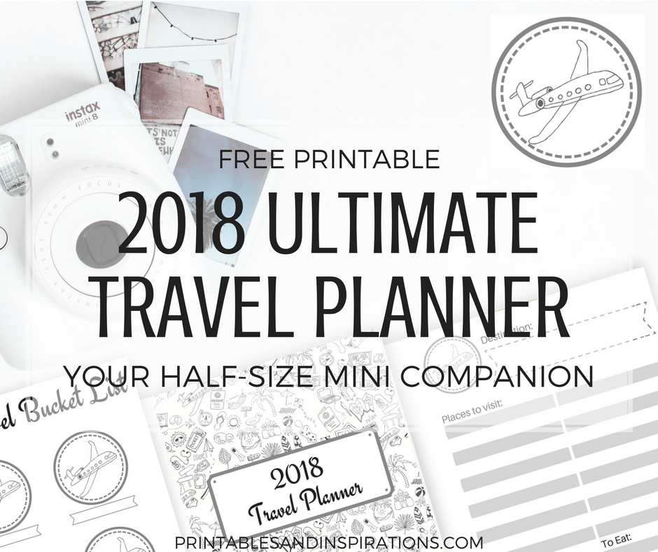 Free Printable Half Size Planner And 2018 Calendar