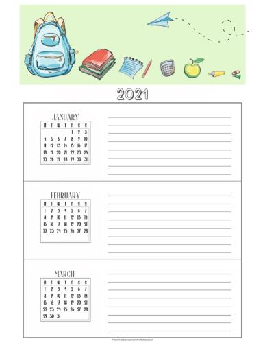 Free printable 2021 monthly goals #printablesandinspirations #backtoschool