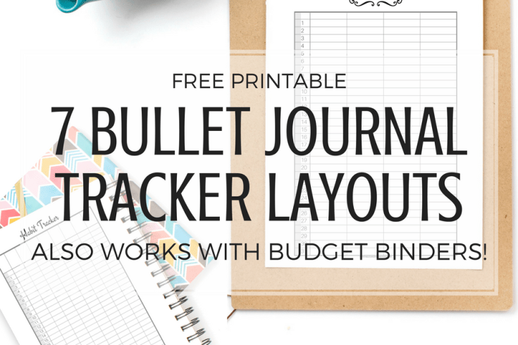 Free printable bullet journal tracker layout, budget binder, expense tracker, habit tracker, sleep Log, planner printables