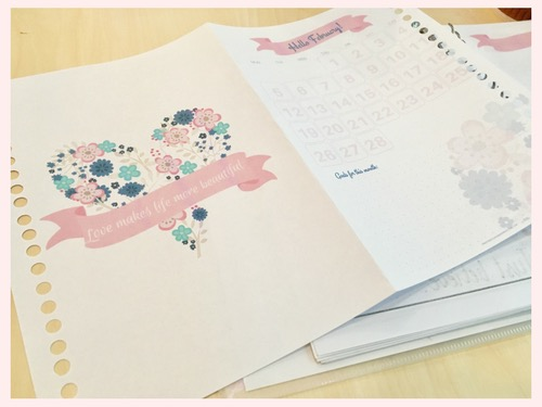 Here's some more printable February bullet journal cover pages that you can use! Print one out and stick to your bullet journal or add to your ring binder or use as inspiration. Check all 6 beautiful designs! #bulletjournal #bujomonthly #bujoideas #bujo #freeprintable #printablesandinspirations #bujoinspiration