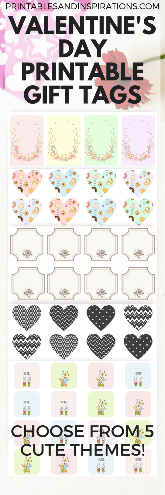 Free printable valentines day gift tags, valentines ideas, gift ideas for Valentines Day, cupcakes decorations, gift tags printable, gift tags for valentines