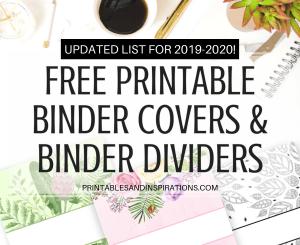 free printable binder dividers, printable binder covers, binder organization printables, binder planner printables, binder design cover, floral binder covers