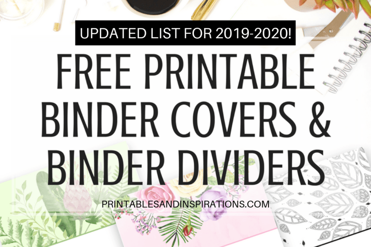free printable binder dividers, printable binder covers, binder organization printables, binder planner printables, binder design cover, floral binder covers