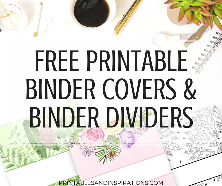 Free Printable Binder Dividers And Binder Covers