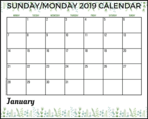 free 2019 planner printable, free printable planner 2019 calendar, 2019 monthly planner, free 2019 calendar, 2019 floral planner printable, floral calendar 2019, #freeprintables #plannerprintables