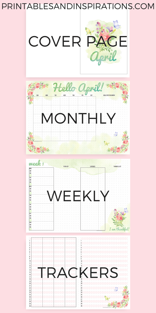 photograph regarding Free Printable Journal Templates identified as April Bullet Magazine Printables No cost Down load! - Printables