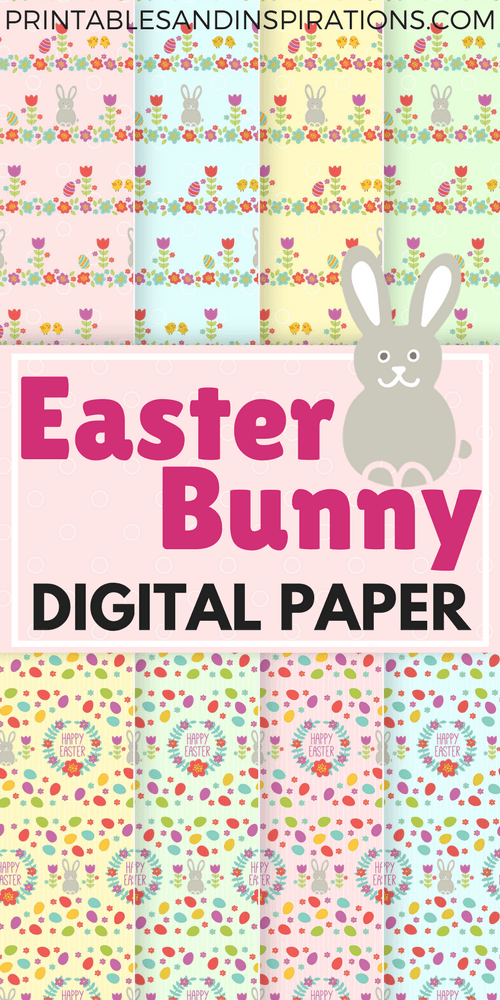 Free printable Easter bunny digital paper, Easter decorations, Easter party, Easter egg, paper crafts, free printables