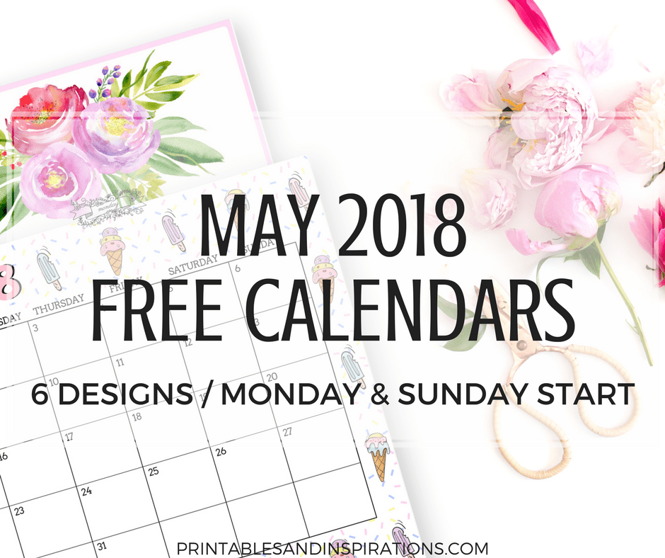 2018 Calendar Archives Printables and Inspirations