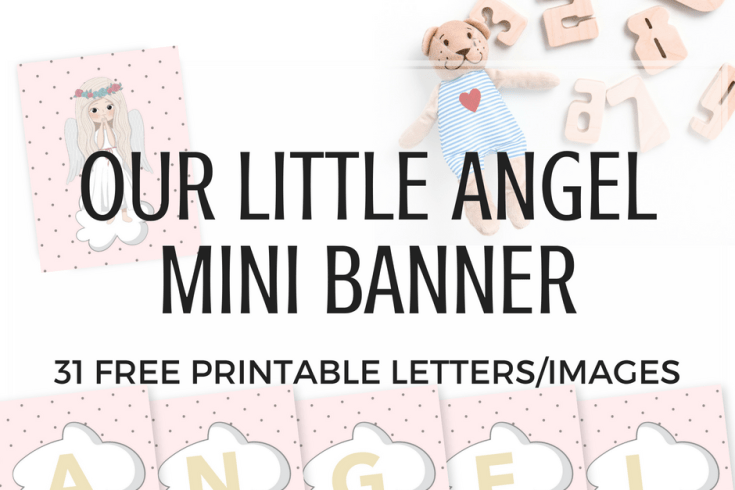 angel printable letters, DIY banner, free printable banner, mini buntings, banner design